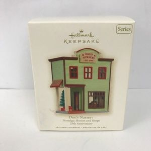 Hallmark Nostalgic Houses Don's Nursery Ornament
